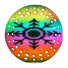 Vector Snowflake Ornament (round Filigree)