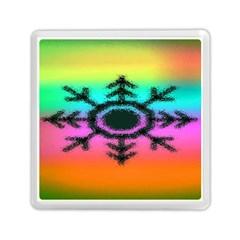 Vector Snowflake Memory Card Reader (square)