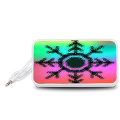 Vector Snowflake Portable Speaker (White)
