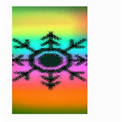 Vector Snowflake Large Garden Flag (two Sides)