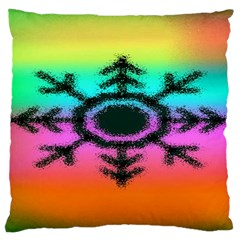 Vector Snowflake Large Cushion Case (Two Sides)