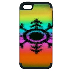 Vector Snowflake Apple Iphone 5 Hardshell Case (pc+silicone)