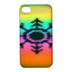 Vector Snowflake Apple Iphone 4/4s Hardshell Case With Stand