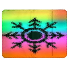 Vector Snowflake Samsung Galaxy Tab 7  P1000 Flip Case