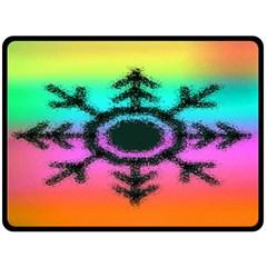 Vector Snowflake Double Sided Fleece Blanket (Large)