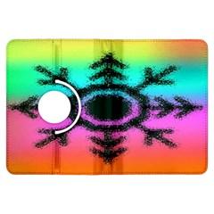 Vector Snowflake Kindle Fire Hdx Flip 360 Case