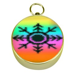 Vector Snowflake Gold Compasses