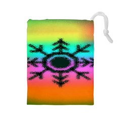 Vector Snowflake Drawstring Pouches (large)