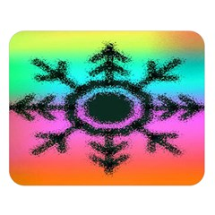 Vector Snowflake Double Sided Flano Blanket (large)