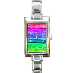 Pretty Color Rectangle Italian Charm Watch
