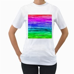 Pretty Color Women s T-Shirt (White) (Two Sided)