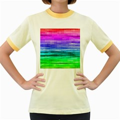 Pretty Color Women s Fitted Ringer T Shirts