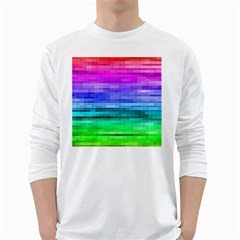 Pretty Color White Long Sleeve T Shirts
