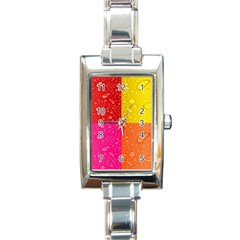 Color Abstract Drops Rectangle Italian Charm Watch