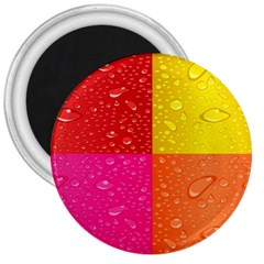 Color Abstract Drops 3  Magnets