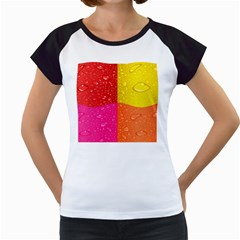 Color Abstract Drops Women s Cap Sleeve T