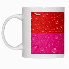 Color Abstract Drops White Mugs