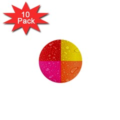 Color Abstract Drops 1  Mini Buttons (10 pack)