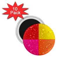 Color Abstract Drops 1.75  Magnets (10 pack)