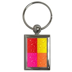 Color Abstract Drops Key Chains (rectangle)