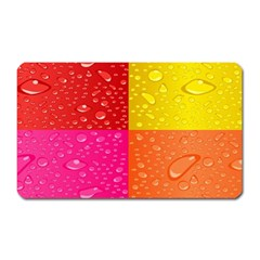 Color Abstract Drops Magnet (Rectangular)