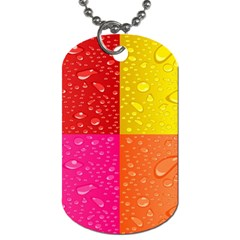 Color Abstract Drops Dog Tag (one Side)