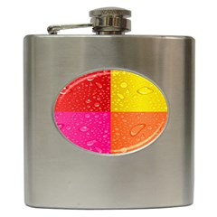 Color Abstract Drops Hip Flask (6 oz)