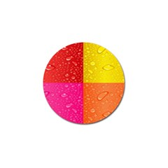 Color Abstract Drops Golf Ball Marker