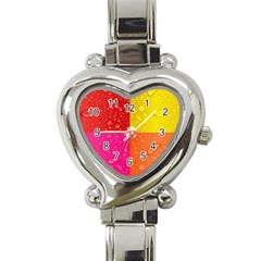 Color Abstract Drops Heart Italian Charm Watch