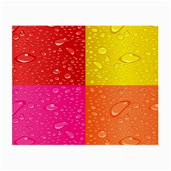 Color Abstract Drops Small Glasses Cloth