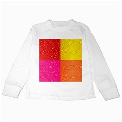 Color Abstract Drops Kids Long Sleeve T-Shirts