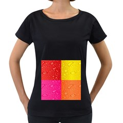 Color Abstract Drops Women s Loose Fit T Shirt (black)