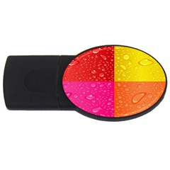 Color Abstract Drops Usb Flash Drive Oval (4 Gb)