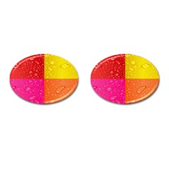 Color Abstract Drops Cufflinks (Oval)