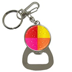 Color Abstract Drops Button Necklaces