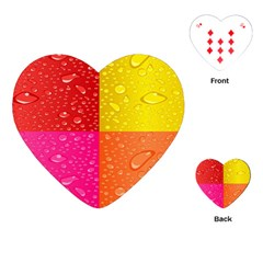 Color Abstract Drops Playing Cards (heart)
