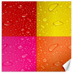 Color Abstract Drops Canvas 20  X 20