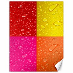 Color Abstract Drops Canvas 18  x 24