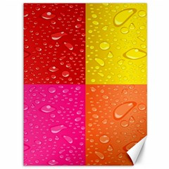 Color Abstract Drops Canvas 36  X 48