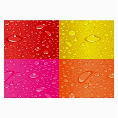 Color Abstract Drops Large Glasses Cloth