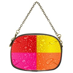 Color Abstract Drops Chain Purses (One Side)