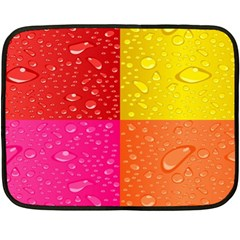 Color Abstract Drops Double Sided Fleece Blanket (mini)