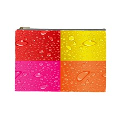 Color Abstract Drops Cosmetic Bag (Large)