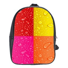 Color Abstract Drops School Bags(Large)