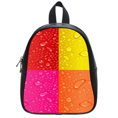 Color Abstract Drops School Bags (Small)