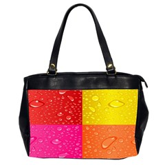 Color Abstract Drops Office Handbags (2 Sides)