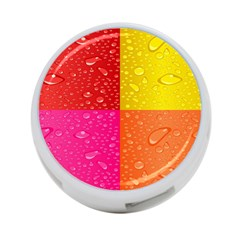 Color Abstract Drops 4 Port Usb Hub (two Sides)