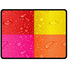 Color Abstract Drops Fleece Blanket (large)