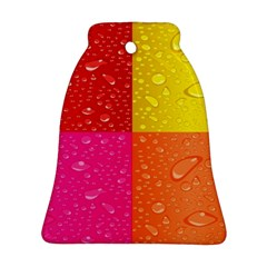 Color Abstract Drops Bell Ornament (Two Sides)