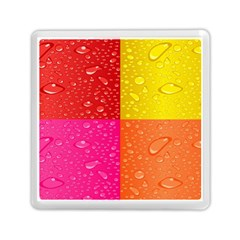 Color Abstract Drops Memory Card Reader (square)